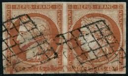 Oblit. N°5a 40c Orange Vif, Paire - TB - 1849-1850 Ceres