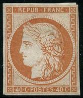** N°5g 40c Orange Réimp - B - 1849-1850 Ceres