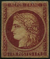 * N°6b 1F Carmin Foncé, Qualité Standard - B - 1849-1850 Ceres