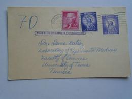 D179043 USA Postal Stationery -1965 Burlington , The University Of Vermont  Sent To Dr. Denis Kertesz  - Tunis - 1961-80