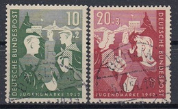 GERMANY Bundes 153-154,used,falc Hinged - Used Stamps