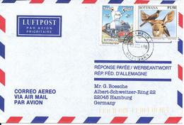 Botswana Air Mail Cover Sent To Germany 12-3-1998 BIRD Stamp - Botswana (1966-...)