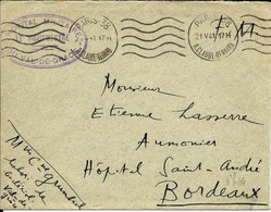 France De Paris 38  Krag , Franchise De L'hopital Du Val De Grace En Mai 1941   TB - Guerra Del 1939-45