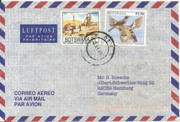 Botswana Air Mail Cover Sent To Germany 3-11-1997 BIRD Stamp - Botswana (1966-...)