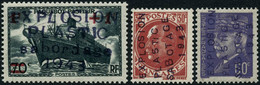 ** Saumur Mayer 2 + 4 +7  Les 3 Val Surchargées EXPLOSION/PLASTIC/SABOTAGE/1943 - TB - Liberation