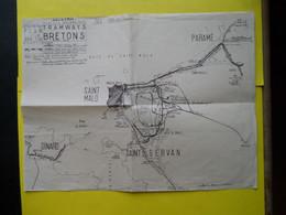 Plan Tramways Bretons + TIV ;DSB - Europe