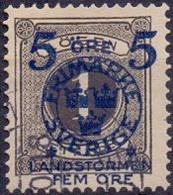ZWEDEN 1916 5+FEM Landstorm II Op 1öre  GB-USED. - Used Stamps
