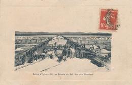 HYERES - SALINS D'HYERES - N° 14 - RECOLTE DU SEL - VUE DES CHANTIERS - Hyeres
