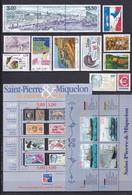 SPM - ANNEE COMPLETE 1999 AVEC POSTE AERIENNE ** MNH - COTE YVERT = 56.5 EUROS - Unused Stamps