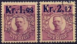 Zweden 1917 Opdrukken Op Gustaf V GB-USED - Used Stamps