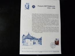 COLLECTION HISTORIQUE DU TIMBRE POSTE FRANCAIS   - 1997   -  FRANCOIS MITTERRAND - Documenti Della Posta