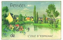 16 PENSEES  DE  L ISLE  D ESPAGNAC   CPM  TBE  VR1098 - Other Municipalities