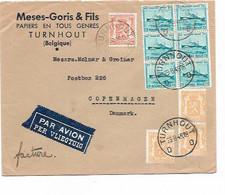SH 0889. Bloc De 6 N° 725a + 419-710(3) Càd TURNHOUT 29.8.45 S/Lettre-Facture Par AVION V. COPENHAGE (Dk). TB - Unclassified