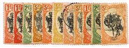 Cote Des Somalis : N°64x2 Rouge-orange Et Rouge + N°65 + N°66 X3 Rouge-orange, Rouge Et Moutarde - Non Classés