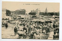 MAROC TANGER Le Grand Socco Marché Sur La Place Marchands Anes Chargés Marchandises 1920  D24 2018 - Tanger