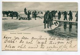 CANADA MONTREAL  Icebreakers Hommes Brisant La Glace  Banquise 1901 écrite Timbrée Cachet Ovale Cambridge D10 2021 - Montreal