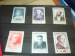 FRANCE  ANNEE 1954  NEUFS   N° YVERT 989 A 994  SERIE COMPLETE 6 VALEURS  CELEBRITES DU XIII Eme AU XX Eme SIECLES - Collezioni (senza Album)