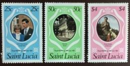 St Lucia 1981 Royal Wedding MNH - St.Lucia (1979-...)
