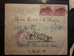 Brief Lettre Cover MARKIRCH Deutschland 1911 Griffe ZURUCK > Chicago Illinois USA Cachet Inquiry Division / Advertised - Storia Postale