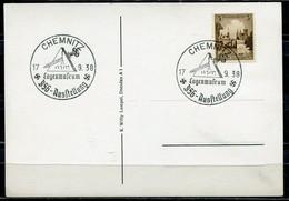 """German Empires, DR 1938 Stempelkarte M.Mi.665 U. Freimaurer SST""""Chemnitz-Logenmuseum-Ausstellung """" 1 Beleg - Covers & Documents"""