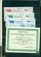 ITALIE TIMBRES POUR COURRIER POSTACELERE EMS 3 VAL AVEC CERTIFICATION BOLAFFI NEUFS A PARTIR DE 10 EUROS - Colis-postaux