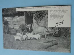 Bretagne -- Le Petit Goret -- Série Complète De 5 Cpa -- ANIMEES - Poème De Th. Botrel - Cerdos
