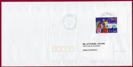 """St.Pierre Et Miquelon 2020 OBLITERE YT 1252 """" NOEL  """" Cachet St.Pierre 2021 - Covers & Documents"""