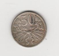 TCHECOSLOVAQUIE - 50 HALERU 1921 - Tschechoslowakei