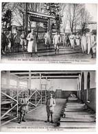 Mourmelon 2 Cpa Croix Rouge Américaine Permissionnaires 1910  état Superbe - Camp De Châlons - Mourmelon