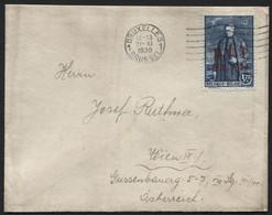 N°307 Surch. BIT Obl. BRUXELLES S/lettre Vers Vienne Le 27/11/30. COB 55€ - Covers & Documents