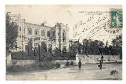 """Alès (30) : La Villa """"La Tour Pouget"""" Place De La Gare En 1910(animé) PF. - Alès"""