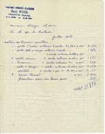 Facture - Reçu : PAUL NOEL, Artisan Peintre à BARENTON , Juillet 1958 - Switzerland