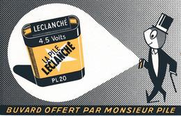 Buvard & Blotter - Pile Leclanché - Buvard Offert Par Mr Pile - Unclassified