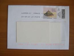 Montimbrenligne Sur Enveloppe 110x160 Mont St Michel - Personalized Stamps