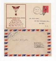!!! LOT DE 2 LETTRES TRAVERSEE DE L'ATLANTIQUE DU 28/5/1934, SIGNATURE DES 2 PILOTES ROSSI ET CODOS SUR L'UNE - Air Post