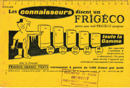 BUVARD & BLOTTER - Réfrigérateur FRIGECO - Illustration Savignac - Tampon Radio François REVIGNY (Meuse) - Unclassified