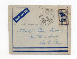 !!! CACHET POSTE NAVALE BUREAU CENTRAL SUR LETTRE DE 1940 POSTEE DU SOUS MARIN AGOSTA - Naval Post