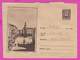 263513 / Bulgaria 1962 - 2 St. View From Gabrovo, Clock Tower , Car  Postal Stationery , Bulgarie Bulgarien - Sobres