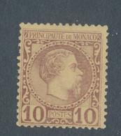 MONACO - N° 4 NEUF (*) SANS GOMME - 1885 - Ongebruikt
