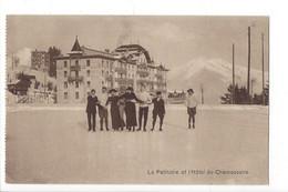 28083 - Leysin La Patinoire Et Hôtel Du Chamossaire Groupe Femmes Et Hommes - VD Vaud