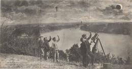 Carte Lettre : Libourne Et Les Bords De La Dordogne Pendant L'éclipse Du 30 Août 1905 - 22.5 Cm X 12 Cm - Astronomía