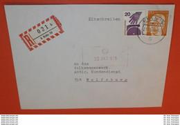 BUND BRD R- Brief Registered Cover 5 Köln 19 --- 21.10.1975  (2 Foto)(38162) - Storia Postale