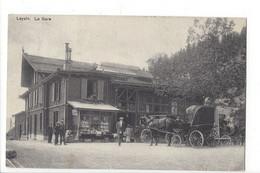 28087 - Leysin La Gare Kiosque Et Calèche 1909 - VD Vaud