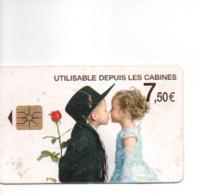 Carte  De Recharge Téléphonique   INTERCALL : 7,50 € De Télécommunication - Depuis Les Cabines    - 2012 - Unclassified