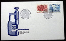 Norway 1975  100 Years Of The International Meter Convention, MiNr.707-08  FDC (lot 474 ) - FDC