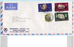 KENIA KENYA Brief Cover 100 105 107-108 Minerale Norwegian Church (Scan)(26122) - Kenya (1963-...)
