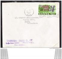 KENIA KENYA Brief Cover Lettre 10 Elefant Tiere Hotel (13755) - Kenia (1963-...)