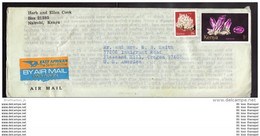 KENIA KENYA Brief Cover Lettre (Airmaillabel - East African The Safari Airline) 97 103 Mineralien (13760) - Kenya (1963-...)