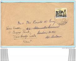 KENIA KENYA Brief Cover Lettre SST Slogan Cachet 5 Kenyatta Berg (2 Scan)(16021) - Kenya (1963-...)