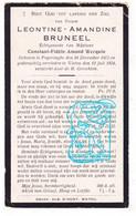DP Leontine Amandine Bruneel ° Poperinge 1872 † Watou 1924 X Constant Werquin - Imágenes Religiosas